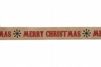 Merry Christmas Jute Ribbon (3m)